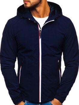 Мужская демисезонная куртка темно-синяя Bolf 5683