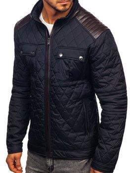 Мужская демисезонная куртка темно-синяя Bolf K007