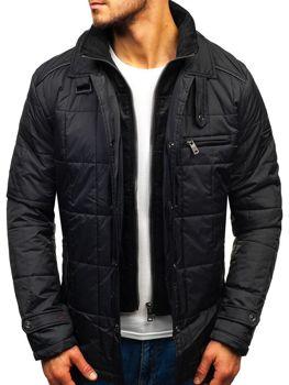 Мужская демисезонная куртка черная Bolf 50004