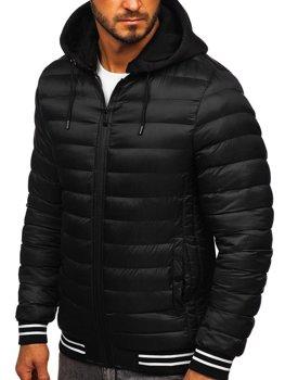 Мужская демисезонная куртка черная Bolf 5331