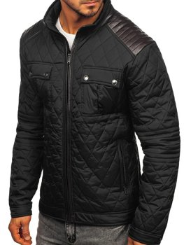 Мужская демисезонная куртка черная Bolf K007