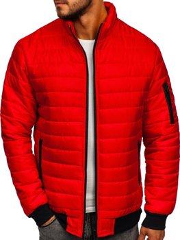 Мужская демисезонная спортивная куртка красная Bolf MY22