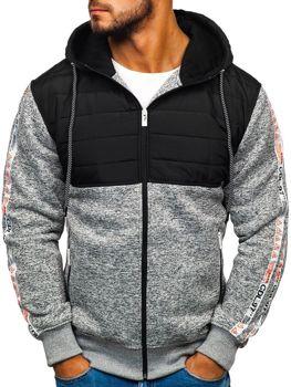 Мужская демисезонная спортивная куртка серо-белая Bolf 3837