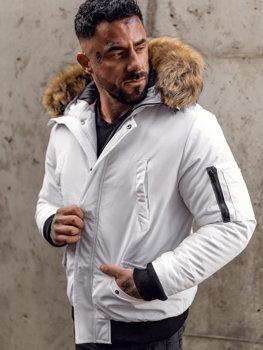 Мужская зимняя куртка белая Bolf 2019