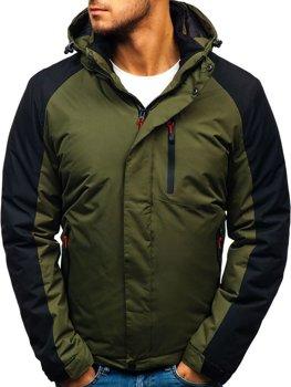 Мужская зимняя куртка зеленая Bolf HZ8102