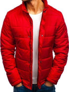 Мужская зимняя куртка красная Bolf 83338
