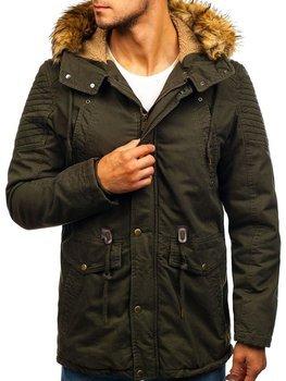 Мужская зимняя куртка парка хаки Bolf 5810