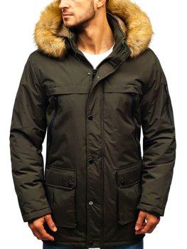 Мужская зимняя куртка парка хаки Bolf R101