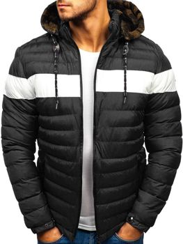 Мужская зимняя куртка черная Bolf A410