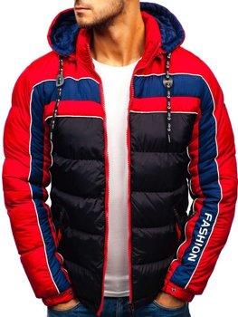 Мужская зимняя куртка черная Bolf A429