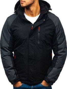 Мужская зимняя куртка черная Bolf HZ8102