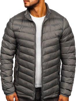 Мужская зимняя спортивная куртка серая Bolf SM70