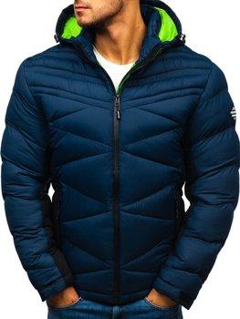 Мужская зимняя спортивная куртка темно-синяя Bolf AB121