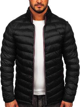 Мужская зимняя спортивная куртка черная Bolf SM71