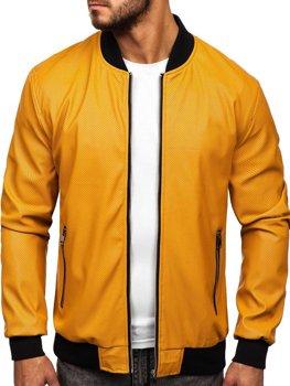 Мужская кожаная куртка кэмел Bolf 6125