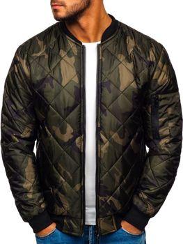 Мужская куртка-бомбер камуфляж-хаки Bolf MY01