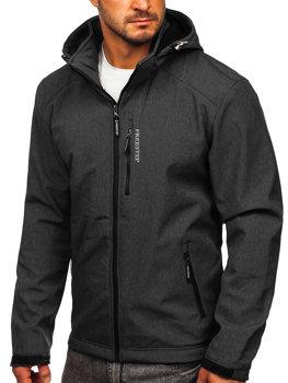 Мужская куртка софтшелл графитовая Bolf AB151