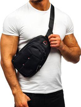 Мужская сумка почтальонка черная Bolf T48