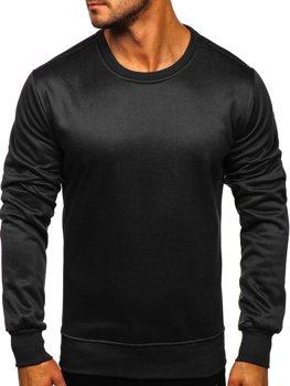 Мужская толстовка без капюшона черная Bolf 2001-2