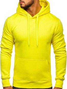 Мужская толстовка с капюшоном желтый-неон Bolf 2009