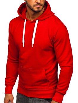 Мужская толстовка с капюшоном красная Bolf 1004