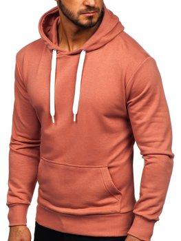 Мужская толстовка с капюшоном розовая Bolf 1004