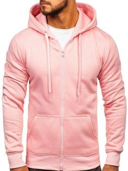 Мужская толстовка с капюшоном светло-розовая Bolf 2008