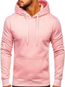 Мужская толстовка с капюшоном светло-розовая Bolf 2009