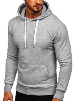 Мужская толстовка с капюшоном серая Bolf 1004