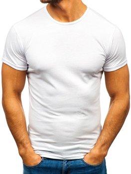 Мужская футболка без принта белая Bolf 0001