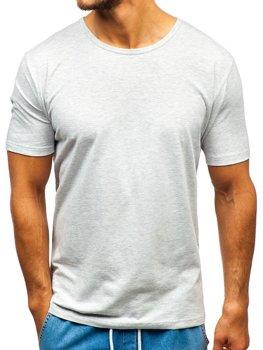 Мужская футболка без принта серая Bolf T1281