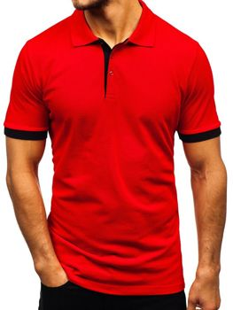 Мужская футболка поло красная Bolf 171222