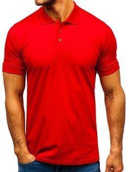 Мужская футболка поло красная Bolf 9025