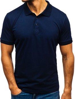 Мужская футболка поло темно-синяя Bolf 171221