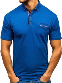 Мужская футболка поло темно-синяя Bolf 192037