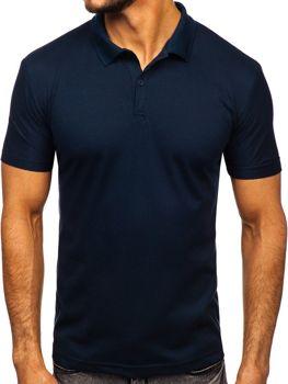 Мужская футболка поло темно-синяя Bolf GD01