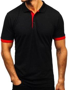 Мужская футболка поло черная Bolf 171222