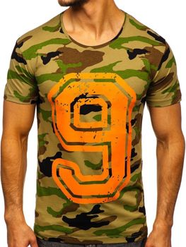 Мужская футболка с принтом мультиколор Bolf 2101C