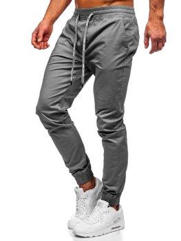 Мужские брюки джоггеры графитовые Bolf KA951