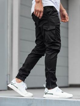 Мужские брюки джогеры карго черные Bolf 0705