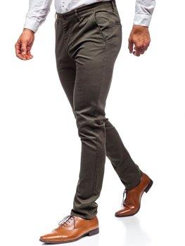 Мужские брюки чинос хаки  Bolf KA969