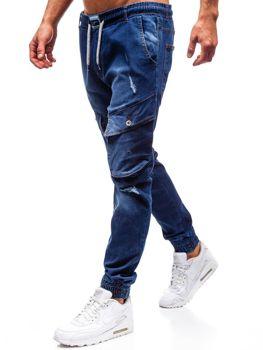 Мужские джинсовые брюки джоггеры темно-синие Bolf2048