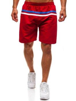 Мужские пляжные шорты бордовые Bolf Y765