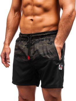 Мужские пляжные шорты камуфляж-хаки Bolf 5741