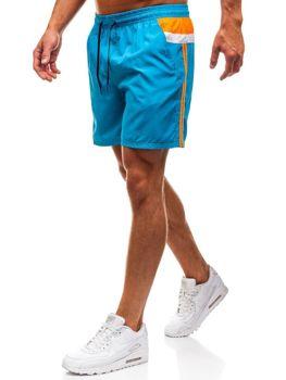 Мужские пляжные шорты светло-синие Bolf 203