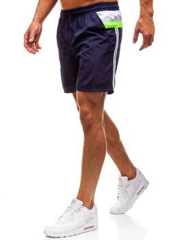 Мужские пляжные шорты темно-синие Bolf 203