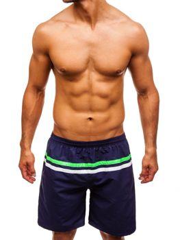 Мужские пляжные шорты темно-синие Bolf Y765