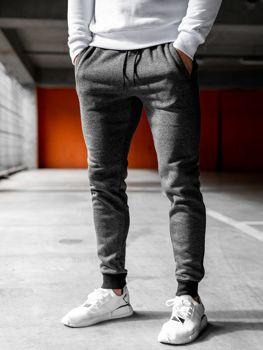Мужские спортивные брюки джоггеры графитовые Bolf KS1894