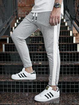 Мужские спортивные брюки джоггеры серые Bolf 11120
