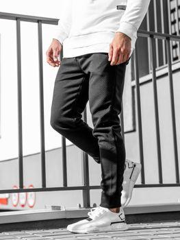 Мужские спортивные брюки джоггеры черные Bolf 1884
